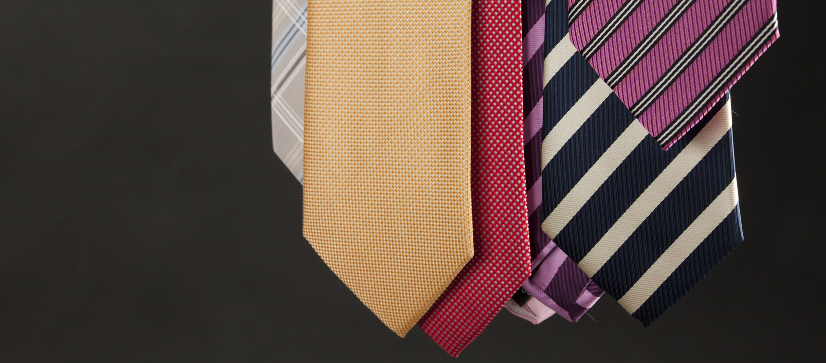 Group of colorful male ties