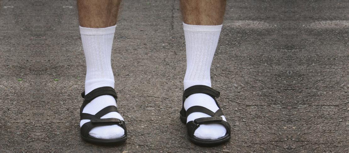 weiße tennissocken tragen