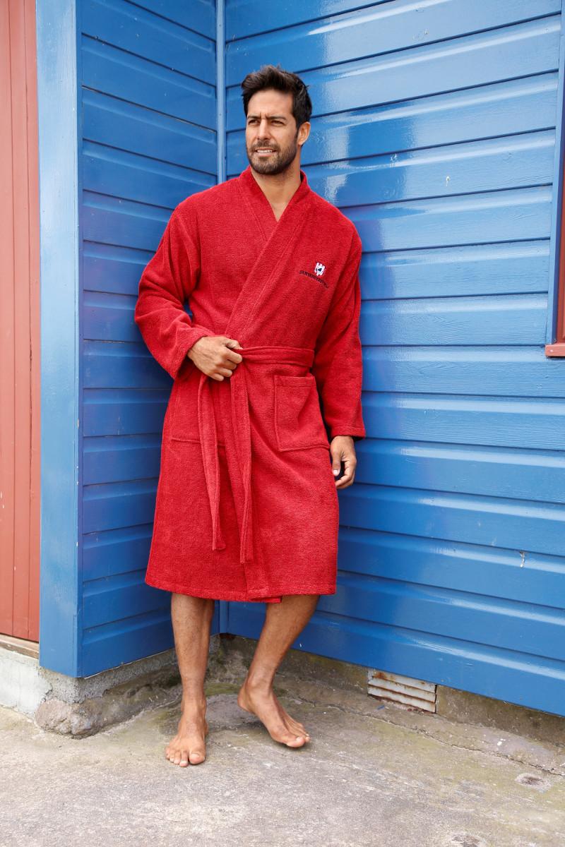 Bademantel rot Große Größen Mann Männer