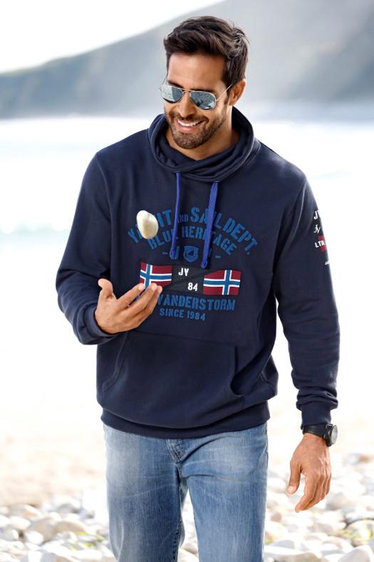 Plus Size Sweatshirt FAPI in Dunkelblau