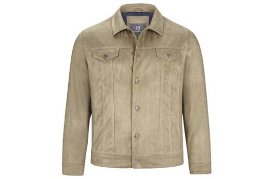 Jacke in Wildlederoptik in Großen Größen für Männer
