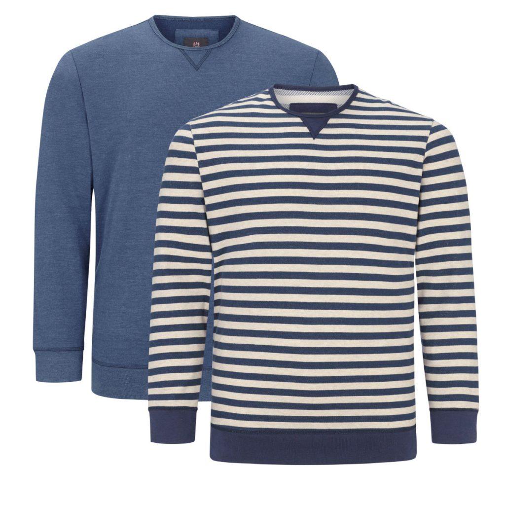 Doppelpack Sweatshirts Große Größen Mode Männer