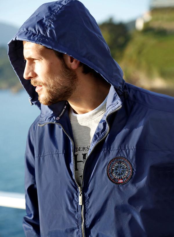 Windbreaker Jacke Große Größen Männer See