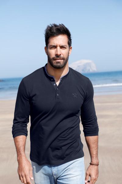 Langarm-Shirt Herren große Größen Mode für Männer