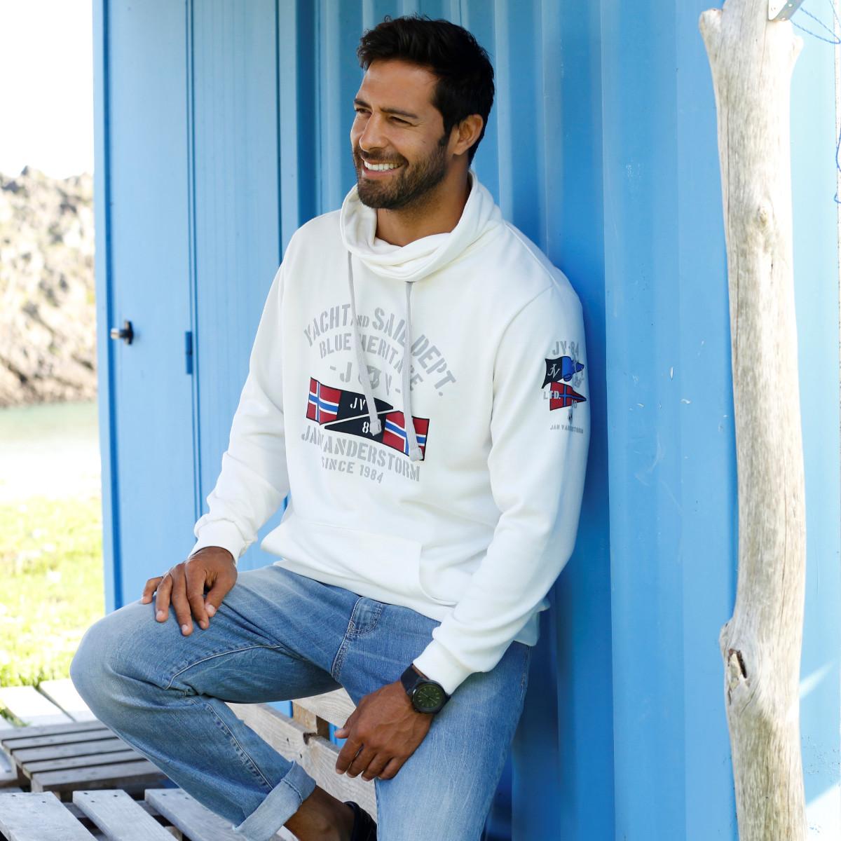 Sweatshirt Männer Mode Große Größen Plus Size Fashion Schalkragen